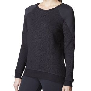 MICHI Melano Crocodile Sweatshirt Black Size Small